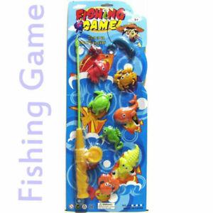 Mini Fishing Rod Toy Kids Game Magnetic Fish Baby Bath Party Fun Game Gift UK