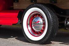 "[#R-285] 15 in.Rim "" Side wall Whitewall Tire insert trim 4Pcs Lowrider Babymoon"