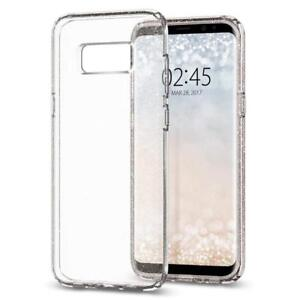 Luxury Clear Glitter Case and Free Tempered Glass Protector For Samsung S9 +