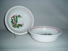 2 Holly & Ribbon Christmas Holiday Fiesta Ware Cereal Bowls HLC, Free Shipping