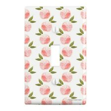 Pink Grapefruit Plastic Wall Decor Toggle Light Switch Plate Cover