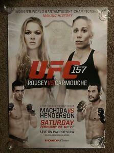 Official UFC 157 Ronda Rousey vs Carmouche Poster 27x39 (Near Mint)