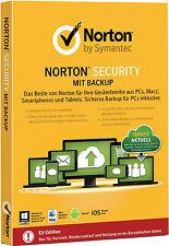 Symantec Norton Security With Backup 10 Geräte 25gb