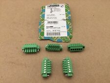 (5) Phoenix Contact Pluggable Terminal Blocks 6 Pos 3.81mm Pitch Plug 28-16 AWG