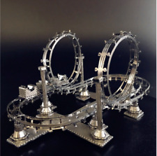 Roller coaster 3D Puzzle Metal Model Collection Hobby