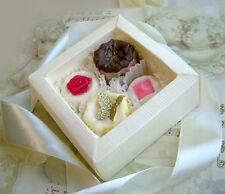 4 kleine exklusive Badepralinen als Geschenk,hochwertig verpackt Badekugeln (207