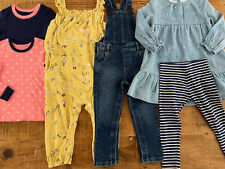 Girl 2-3 years MARKS AND SPENCER BUNDLE Dungarees Playsuit Dress Leggings Tops