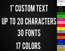 """1"""" CUSTOM VINYL LETTERING / TEXT - Personalized Wall, Window, Car Sticker Decal"""