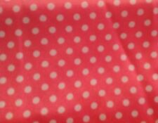 1 1/2 YARDS OF VINTAGE PINK WITH WHITE POLKA DOTS GEORGETTE FABRIC