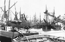 Postcard Nostalgia c1909 LIVERPOOL Garston Dock Ships Boats Reproduction Card