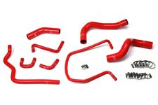 HPS Red Reinforced Silicone Radiator Hose Kit Coolant for Nissan 04-14 Titan V8