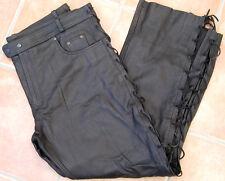 Schnürhose Leder GROßE GRÖßE Übergröße 8-XL XXXXXXXXL bestes Rindleder Jeans