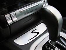 Alu S Emblem Panel for Center Console for Porsche Cayenne 9PA Interior Trim Dash