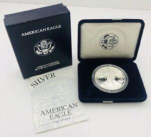 1995-P Silver American Eagle Proof 1 Oz 999 Coin w/ Box & COA Fast Shipping