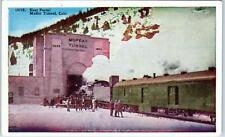 MOFFAT TUNNEL, CO Colorado  RAILROAD TRAIN at  East PORTAL  c1920s  Postcard
