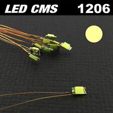 C111# LED CMS pré-câblé 1206 blanc chaud fil émaillé 5 à 20 pcs - prewired