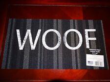 "WOOF Dog Welcome Mat Rug 12"" x 24"" Carpet Tile BRAND NEW!!!"