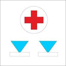Aufkleber Set 1x Rot Kreuz 2x WAT für NVA GT Kfz