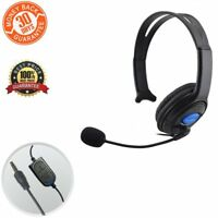 Wired Headset Live Gaming Single Ear Headphone with Mic for Xbox One/ PS4