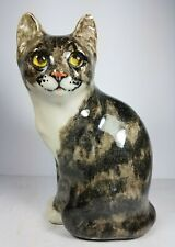 More details for lovely seated winstanley ceramic tabby cat size 4 signed base 9