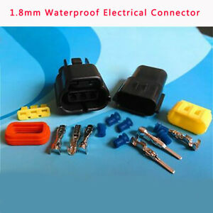 1.8mm Waterproof Electrical Connector Male Female Terminal Wire Kit 1Way-12Way