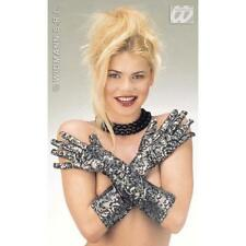 Ladies Stretch Gloves Lace Effect Glamour Flapper 1920s Fancy Dress