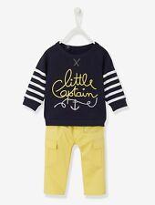 Vertbaudet Fleece Sweatshirt Twill Trousers Outfit Set 24 Months TD074 09 E