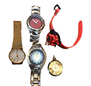 Lot of Watches Parts Repair Burgana JF Fossil Helbros Power Rangers Dino Thunder