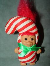 "Troll Doll 3"" Russ Christmas Candy Cane Red Hair Rare"