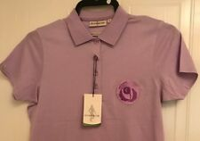 GLENMUIR MICHELLE MERCERISED COTTON SHAPED FIT CRESTED SHIRT LILAC SMAL B.N.W.T.