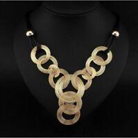 Necklace Women Bib Fashion Choker Chunky Statement Chain Jewelry Pendant Crystal