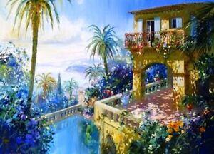 Large Paint By Numbers Kit 50*40cm 8146 Fun Art Decor Castle House AU