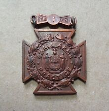 Small Arms Practice Antique Tiffany & Co. New York Bronze Medal Badge