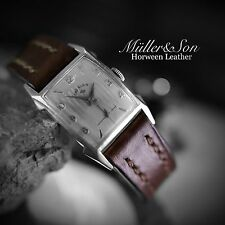 Müller&Son 17mm Brown Genuine Horween Leather Watch Strap Custom Made in USA