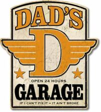 """Dads Garage Over Sized Premium Sign Embossed Uv Protected 23"""" W 20.5"""" H 0.25"""" D"""
