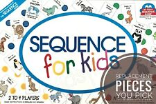 Sequence for Kids Game Individual Replacement Pieces Cards and Chips -  You Pick