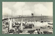 1965 RP PC THE HAVEN AND PIER, TYNEMOUTH - LITTLE SAILING BOATS, PEOPLE, CRANE
