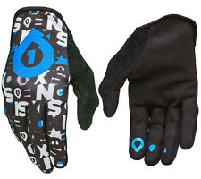 MEN'S 661 COMP REPEATER MOTOCROSS MX BIKE GLOVES BLACK / CYAN X-LARGE XL 11