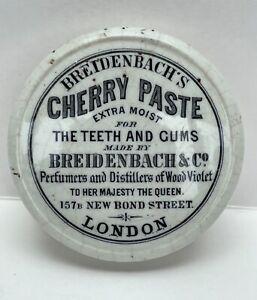 Breidenbach's Cherry Paste New Bond Street London Pot Lid