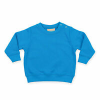 Larkwood Baby Toddler Boys Girls Crew Neck Sweatshirt With Shoulder Poppers