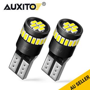 2x White T10 LED Light W5W 5630 168 194 24V Car Dash Parking Side Bulbs Canbus