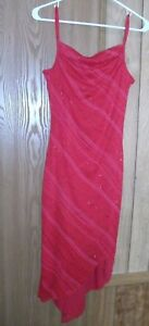 MY MICHELLE Womens S Red Spaghetti Strap Cocktail Dress w Sparkle NWT