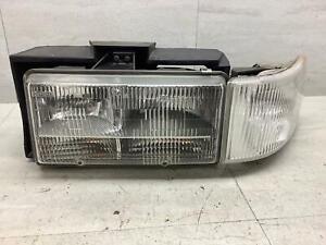 93-96 Cadillac Fleetwood Driver Left Headlamp W/ Marker Lamp & Mount Panel