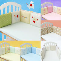 6Pcs Baby Crib Bumper Infant Cot Safety Protector Cushion Nursery Bedding Bed