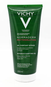 VICHY Normaderm Phytosolution Intensive Purifying Gel 200ml - NEW - Damaged Cap