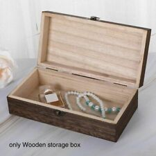 Household Box Case Organizer Wooden Storage Jewelry Travel Sundries Rectangle