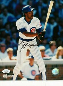 ANDRE DAWSON SINGLE SIGNED 8X10 PHOTO JSA COA AUTO AUTOGRAPH CHICAGO CUBS HOF #2