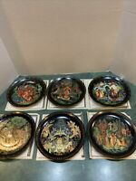 Vintage Russian Legends Collector Plates - 1-6 Plates MIB With COA