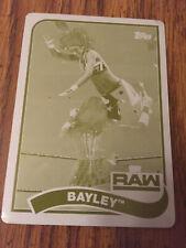 2018 Topps WWE Heritage Bayley Yellow Printing Plate 1/1  #9