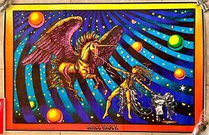 SPACE RIDER Classic Vintage 1972 Blacklight Poster Rare Original Unicorn NICE